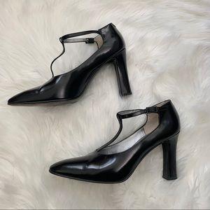 Calvin Klein | Black T-strap Heels